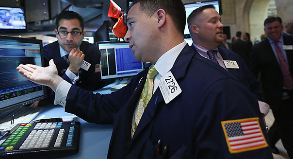 NYSE traders investing