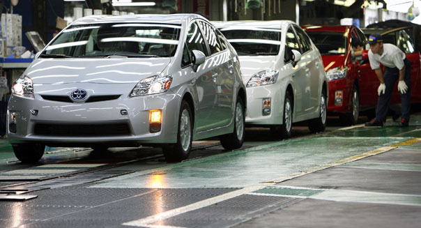 toyota prius assembly line automobile recall hybrid vehicles