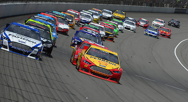 during the NASCAR Sprint Cup Series Quicken Loans 400 at Michigan International Speedway on June 16, 2013 in Brooklyn, Michigan.