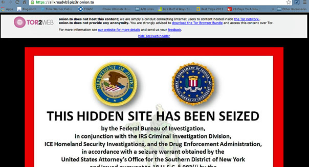 silk road deep web site shutdown fbi