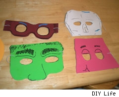 diy easy foram kid masks