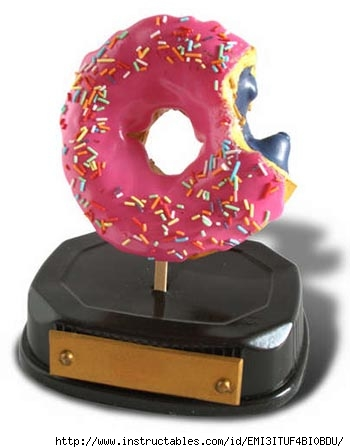 Simpsons Donut Trophy by KaptinScarlet on Instructables