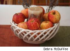 apple bowl centerpiece
