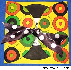Center-Tie Card by Ruth Ann Zaroff.