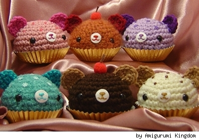 Cupcake Bears by Flickr user Amigurumi Kingdom.