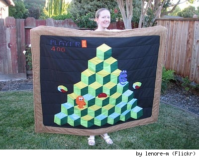 Q*bert quilt by Lenore M.