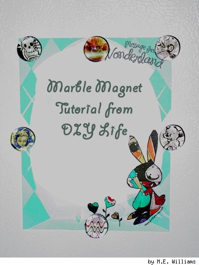 Marble Magnets tutorial image, by M.E. Williams for DIY Life.