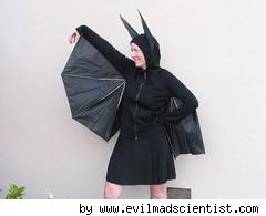 bat costume made with an umbrella