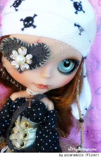Custom Pirate Queen Blythe Doll, by Flickr user PicaraDolls.