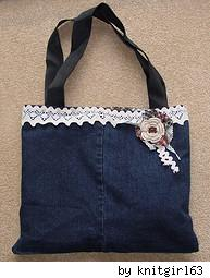 handmade denim jean purse