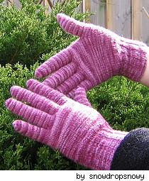gloves that have been knitted