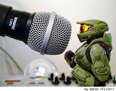 Master Chief sings, by Flickr user Ayton