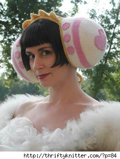 Nikol Lohr in her Katamari Damacy Queen of All Cosmos earmuffs.