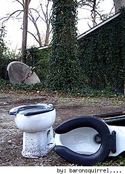 outdoor toilets