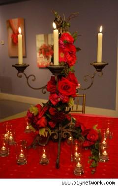 cheap red wedding centerpices