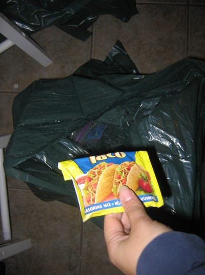 Keep a garbage bag handy