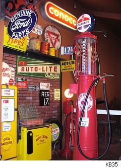 old gas pump - route 66 museum