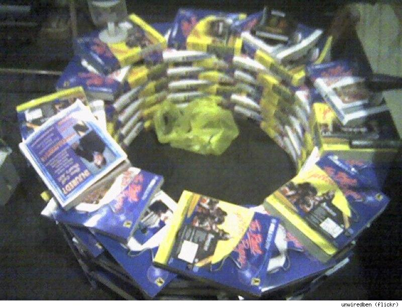 phone book fire pit