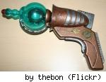Steampunk raygun made from toy