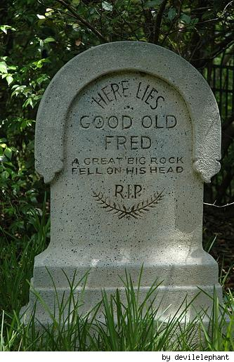 Another tombstone