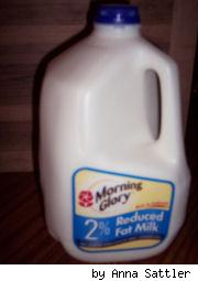 unopened gallon of 2 % milk