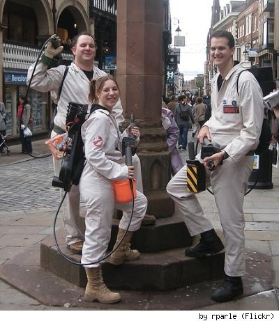 Some fine Ghostbusters cosplay. By Flickr user rparle.