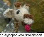 Cute Giraffe amigurumi from Roman Sock.