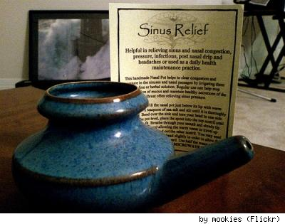 Neti pot, by Flickr user Mookies.
