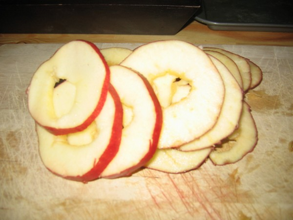 Slice the apple