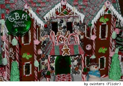 Gingerbread candy factory, by Chris Winters
