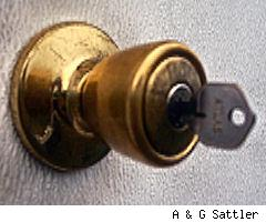 key in a door lock