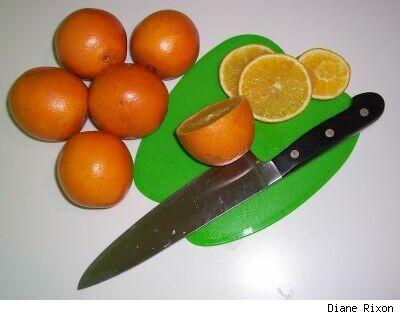 Slice your oranges