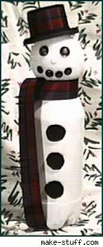 pop bottle snowman craft