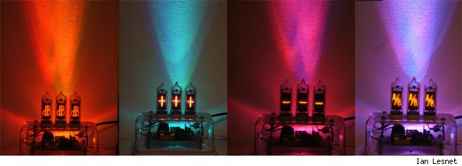 Color changing light and nixie tubes