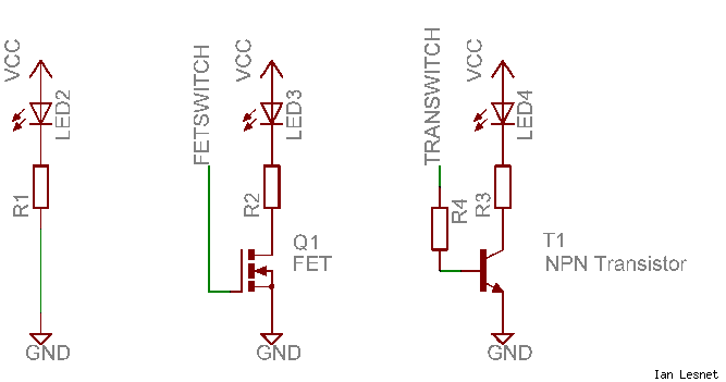 LED switching circuit
