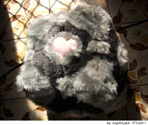 Weighted Companion Cube fuzzy plush - 2