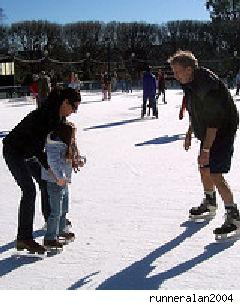 folks ice skating
