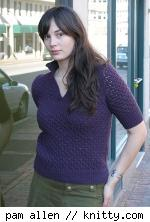 Modern Lacy Henley sweater, from Knitty.com's Winter Surprise update.