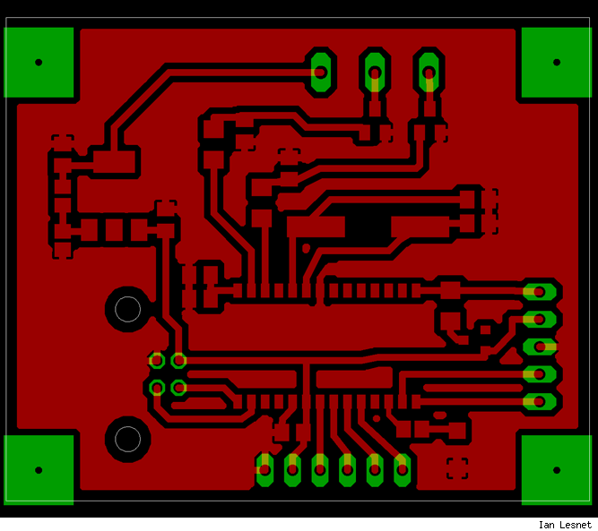 Circuit board, traces only.