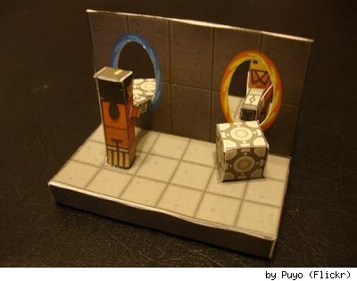 Portal papercraft, by Flickr user Puyo.
