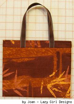 patterned cloth tote bag