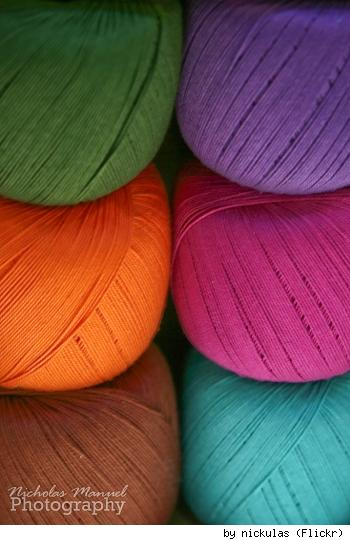 Pretty balls of yarn, by Flickr user Nickulas.