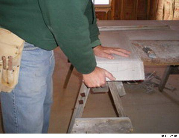 Cutting concrete backer board