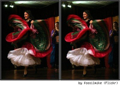 Massively full skirt at a Gypsy Dance school in Houston, TX, by Flickr user Fossilmike.