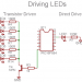 Driving LEDs with a microcontroller