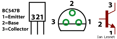 BC547B pin out diagram