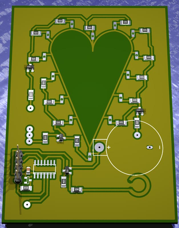 Rendering of the LED valentine.