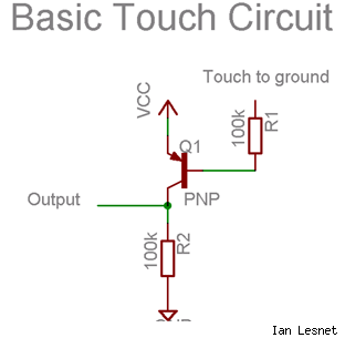 Basic touch circuit schematic