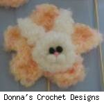 Bunny Flowers by Donna's Crochet Designs. Fair use size.