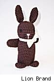 Amigurumi Chocolate Bunny by Lion Brand -- fair use size.